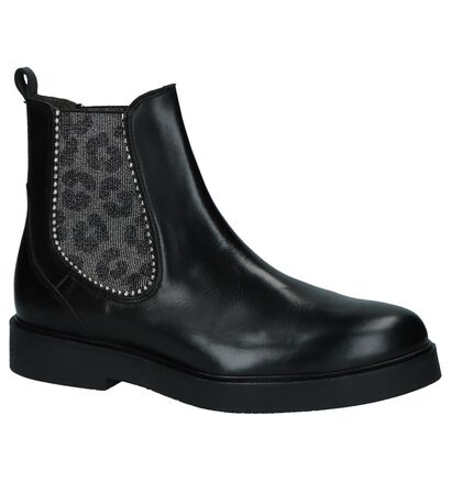 Paola Ferri Zwarte Chelsea Boots, Zwart, pdp