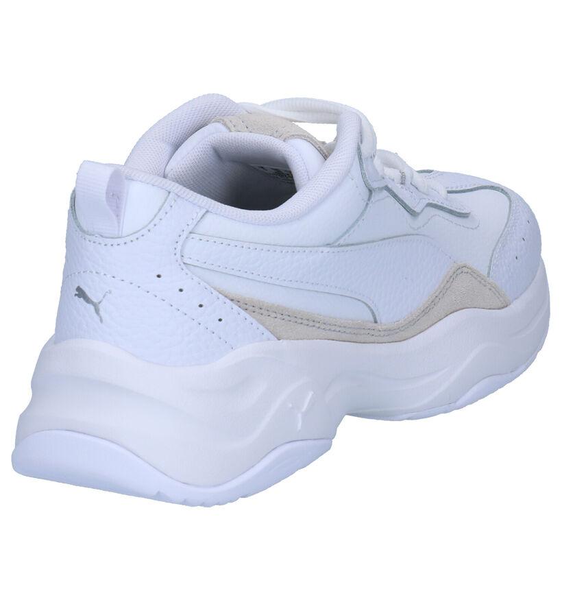Puma Cilia Lux Sneakers Zwart in leer (252595)