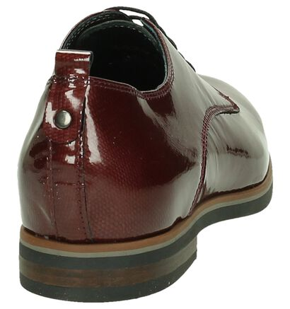 Via Roma by Torfs Bordeaux Veterschoenen met Slangenprint, Bordeaux, pdp