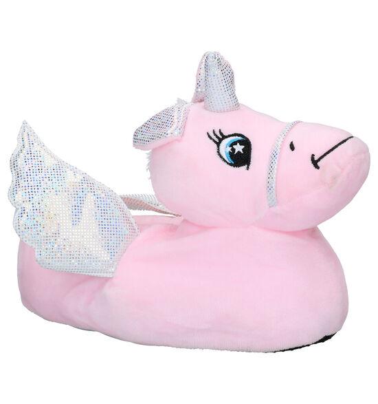 Milo & Mila Unicorn Roze Pantoffels