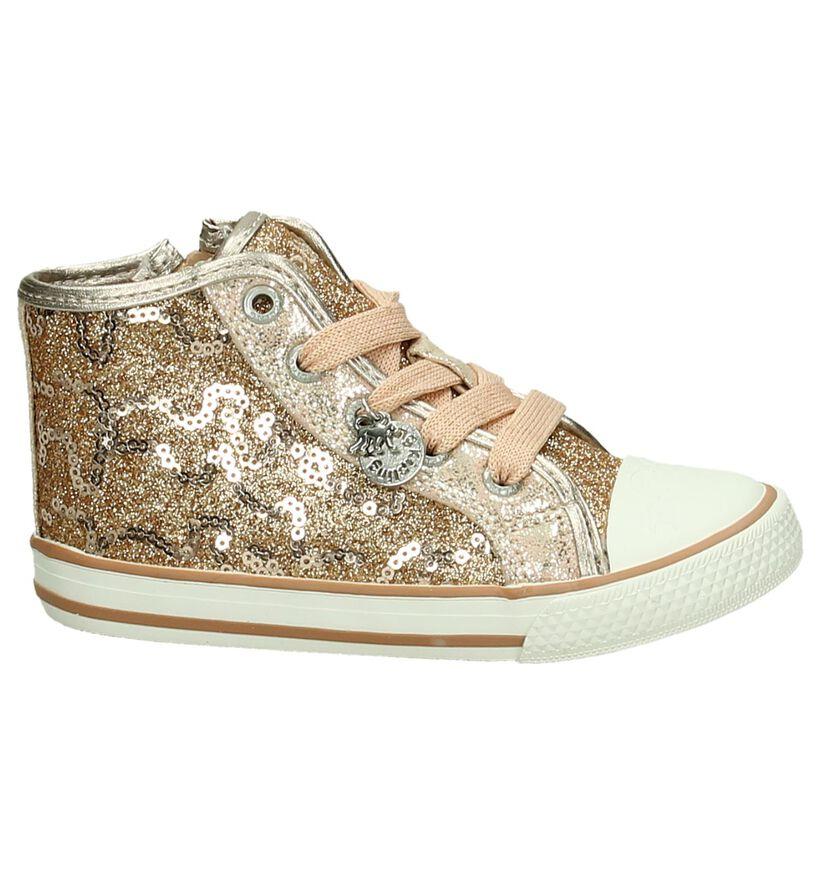 Kipling Roze Rits/Veter Sneakers met Glitters in stof (195826)