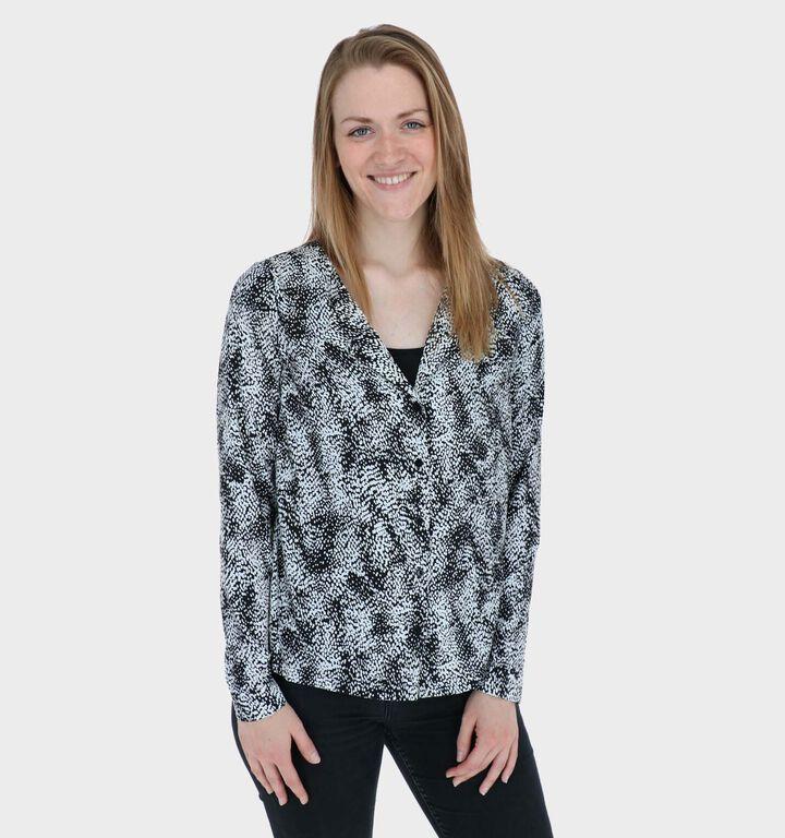Vero Moda Jordin Zwart/Witte Blouse