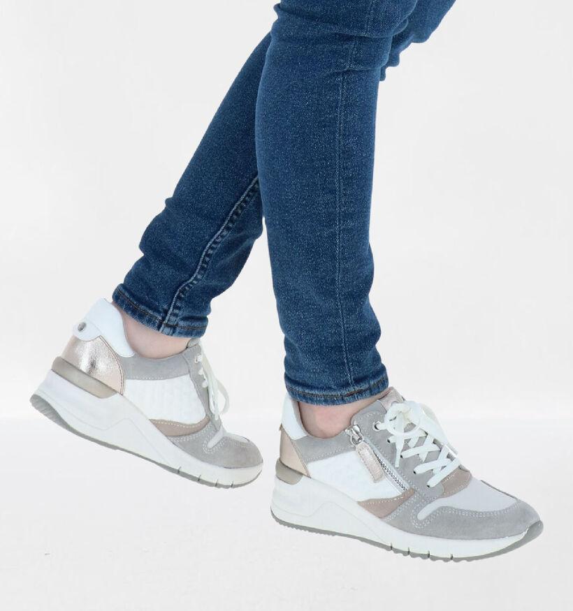 Tamaris Blauwe Sneakers in kunstleer (265685)