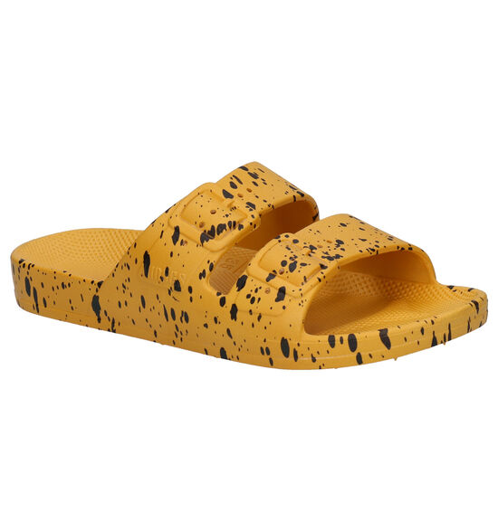 Freedom of Moses Mikado Splatter Gele Slippers