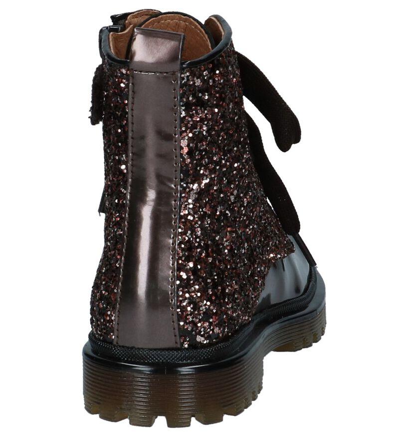 Bronzen Boots met Rits/Veter Romagnoli in lakleer (230212)