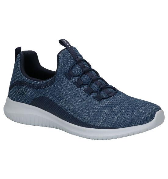 Skechers Ultra Flex Blauwe Sneakers