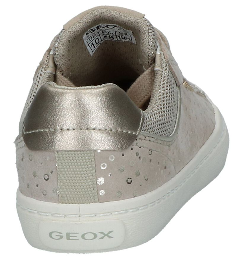 Beige Veterschoenen Geox in leer (237980)
