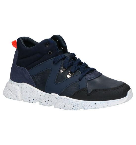 Little David Moussa Blauwe Sneakers