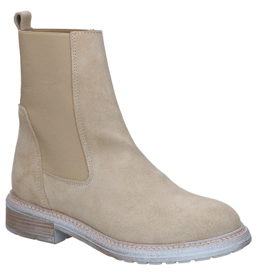 Tango Beige Chelsea Boots in daim (293967)