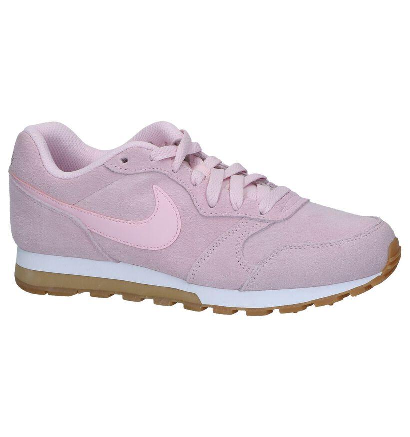 Roze Sneakers Nike MD Runner 2 in daim (237841)