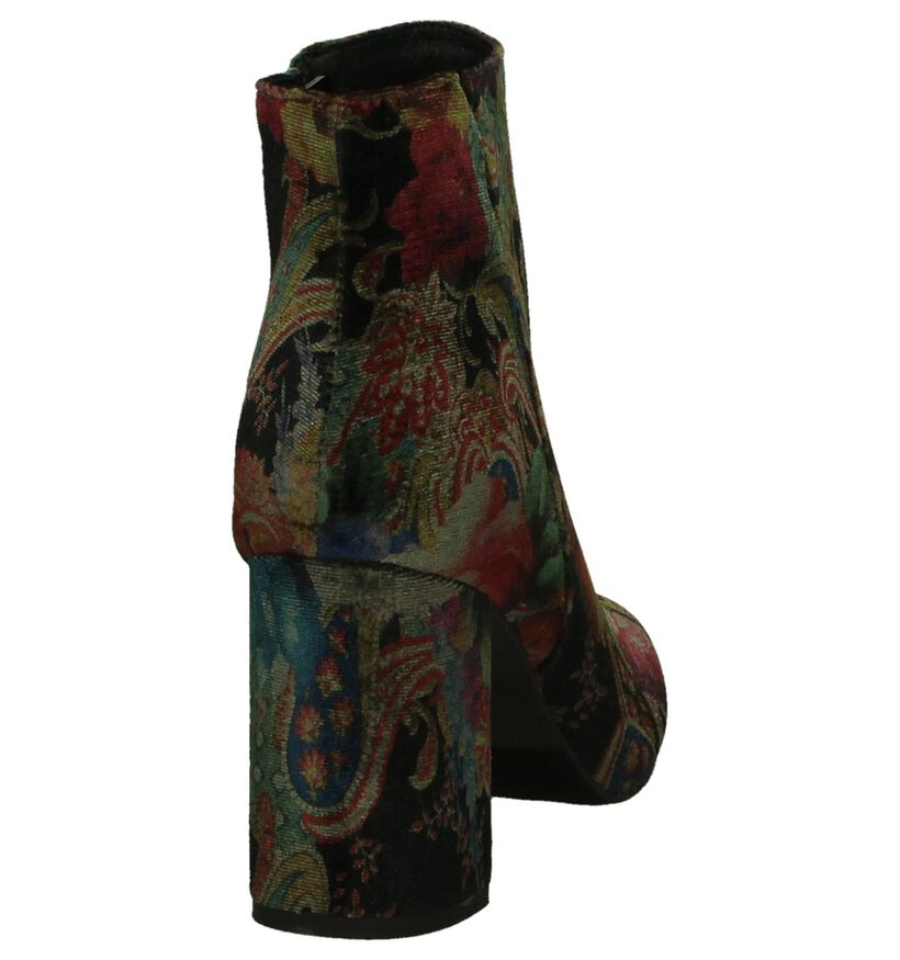 La Strada Meerkleurige Enkellaarzen in fluweel (201181)