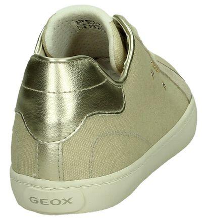 Geox Licht Beige Sneakers in stof (190701)