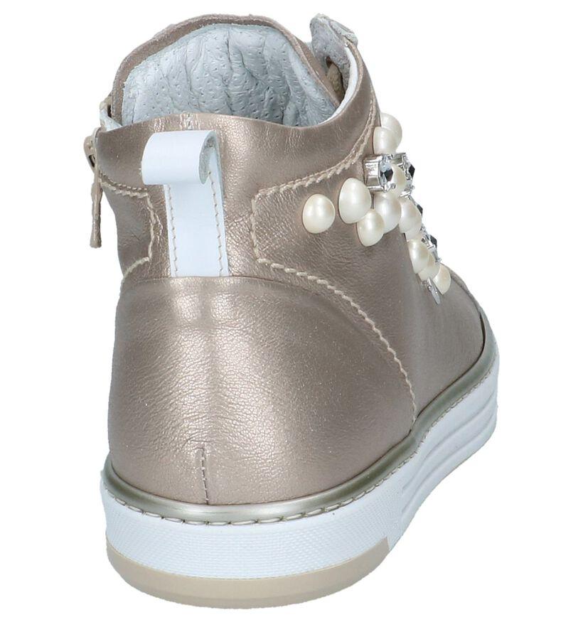 Rose Gold NeroGiardini Sneakers in leer (216977)