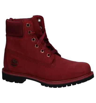 Timberland 6 Inch Premium Zwarte Boots, Bordeaux, pdp