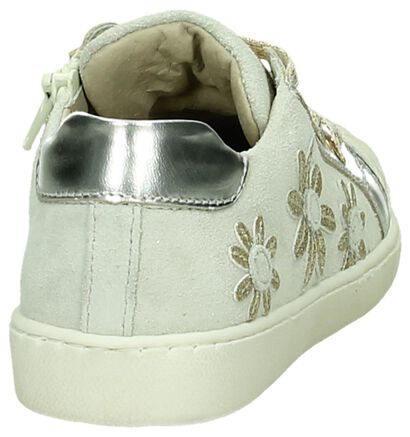 Beige Sneaker met Bloemenprint Lunella in daim (190511)