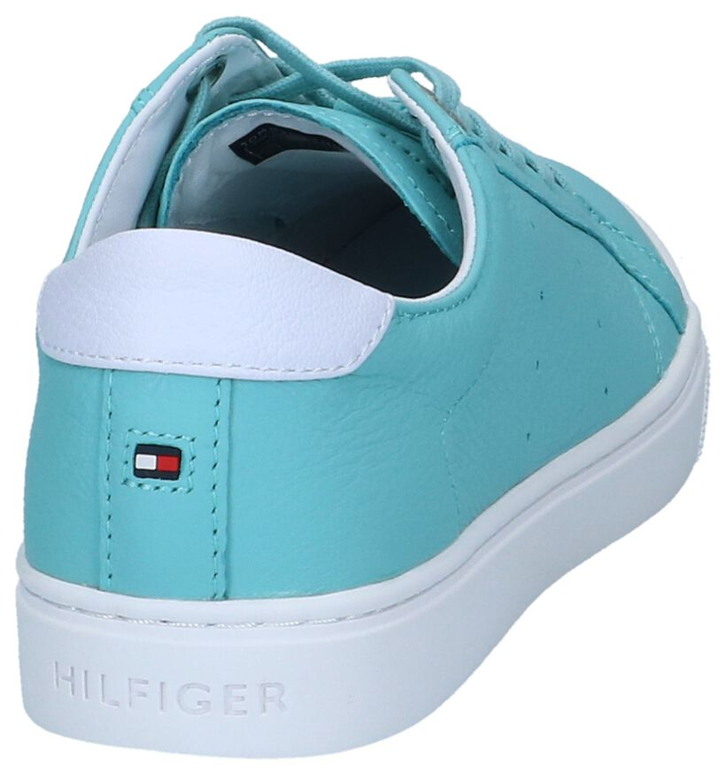 Lichtblauwe Sneakers Tommy Hilfiger Pop Color City in leer (241748)