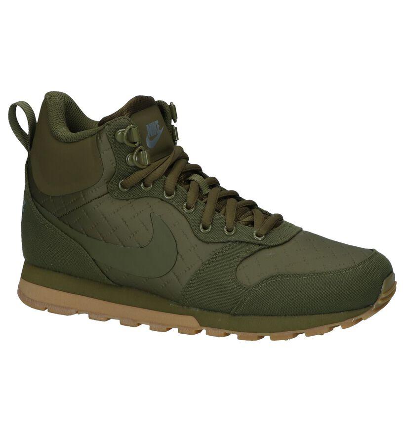 Kaki Hoge Sneakers Nike MD Runner 2 in kunstleer (233336)