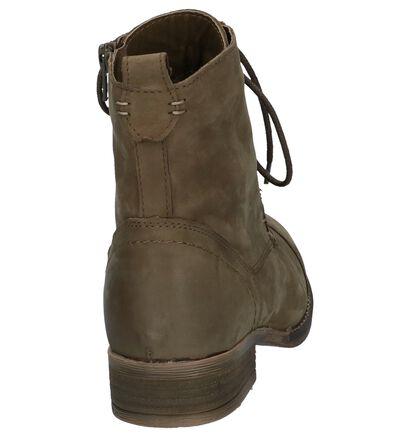 Zwarte Hoge Schoenen met Rits/Veter Poelman Gasolina, Groen, pdp