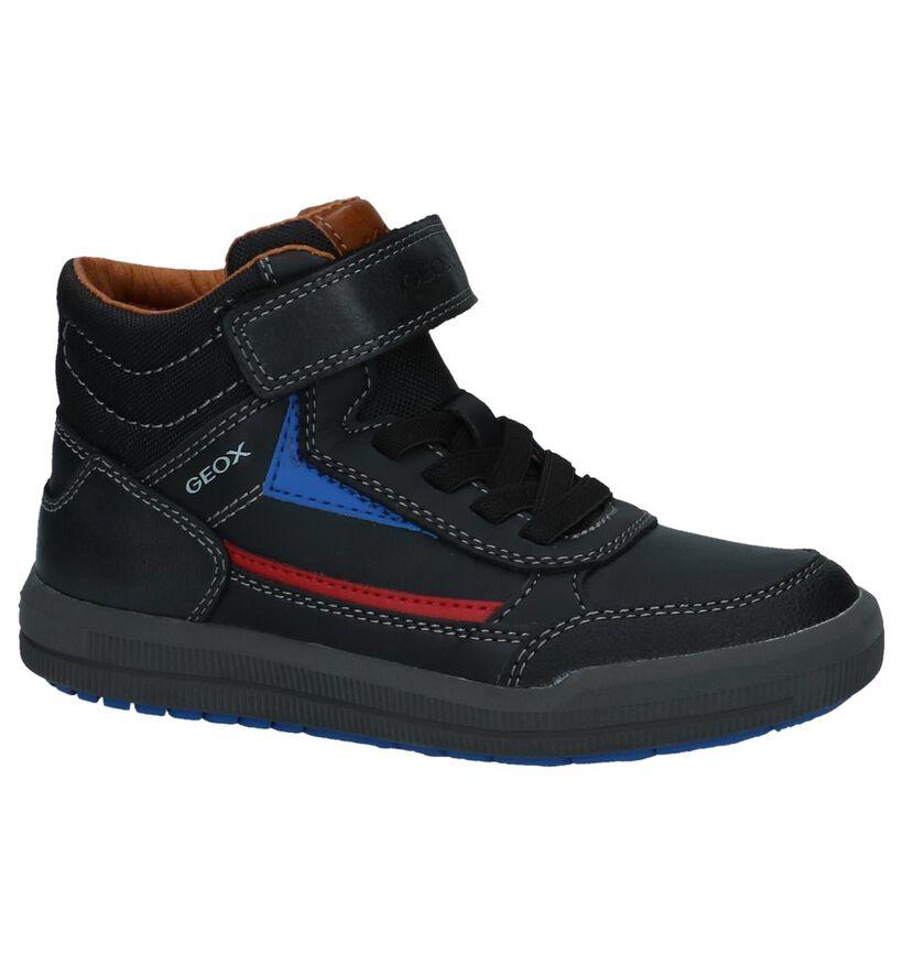 Geox Zwarte Boots met Klittenband/Elastiek in kunstleer (223190)