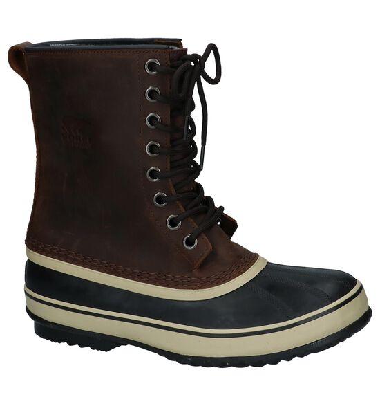 Donker Bruine Snowboots Sorel Premium