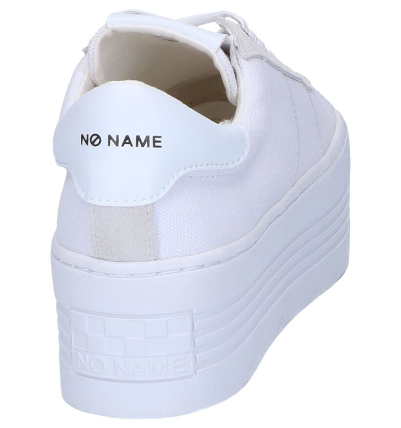 Witte Sneakers No Name Twin Sneaker in stof (243157)