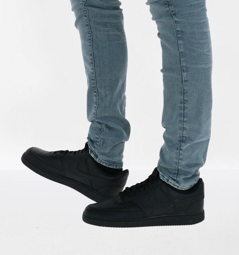 Nike Court Vision Witte Sneakers in leer (283891)