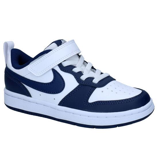 Nike Court Borough Low Wit/Blauwe Sneakers