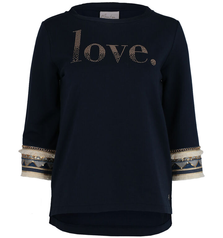 Maison Espin Blauwe T-shirt
