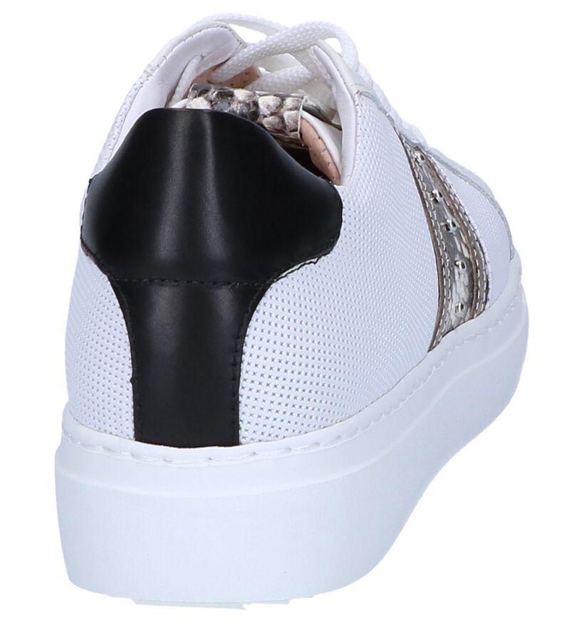 Witte Geklede Sneakers Maripé in leer (248831)