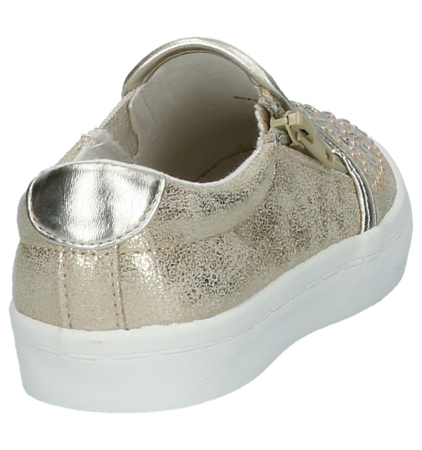 Gouden Slip-on Sneakers Little David Lomo 1 in kunstleer (217953)