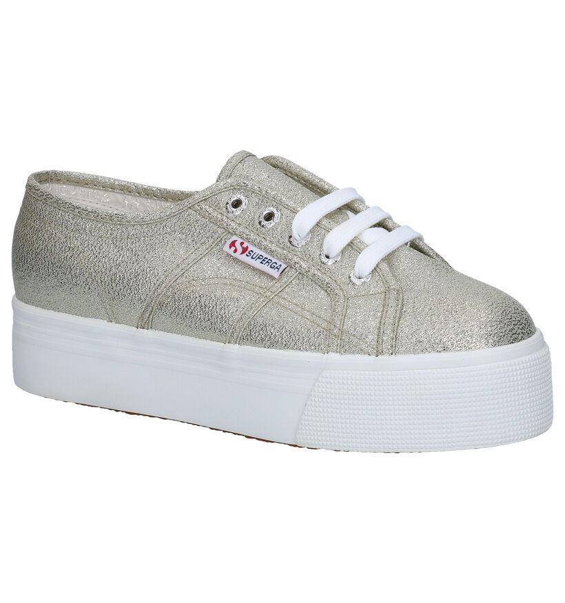 Superga Zilveren Sneakers in stof (284297)
