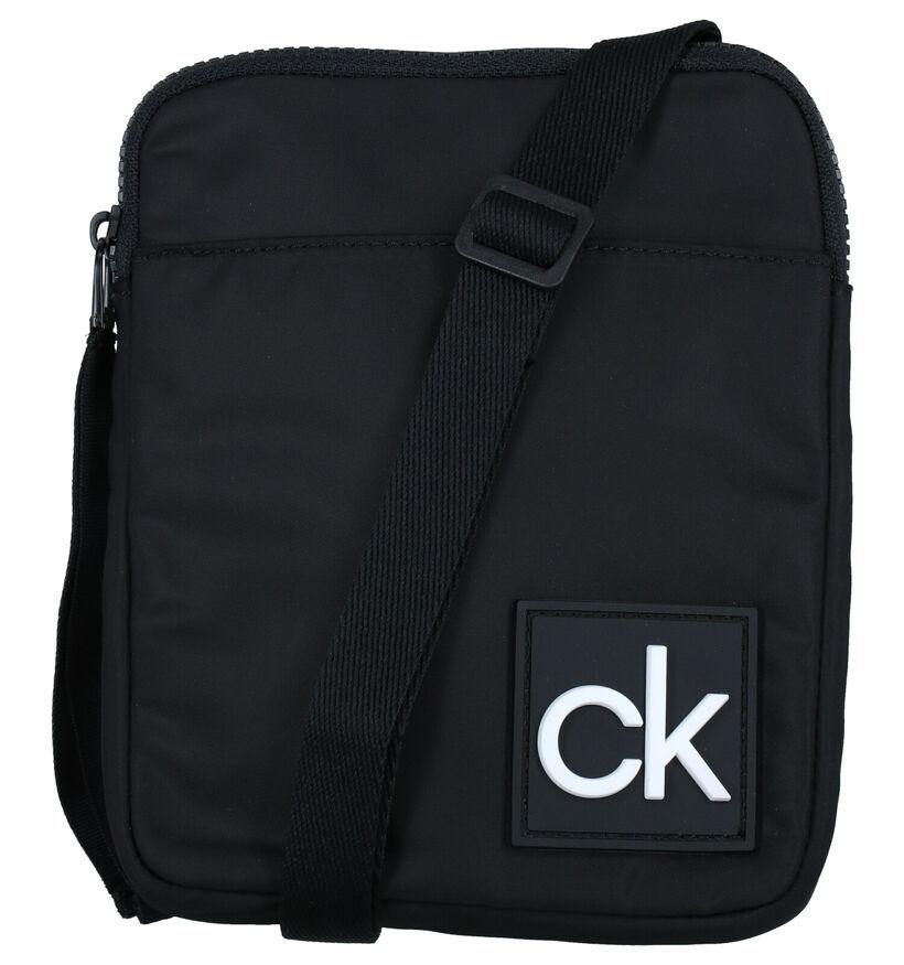 Calvin Klein Accessories Flat Pack S Zwarte Crossbody Tas in stof (280461)