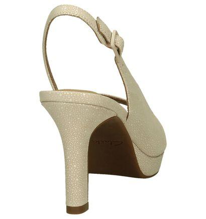 Clarks Mayra Blossom Roze Sandalen High Heels in leer (191735)