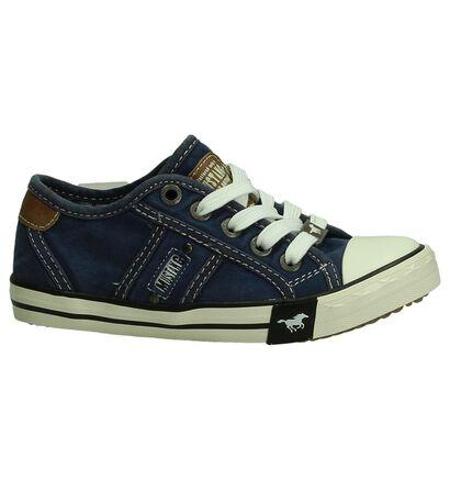 Blauwe Sneakers Mustang, Blauw, pdp