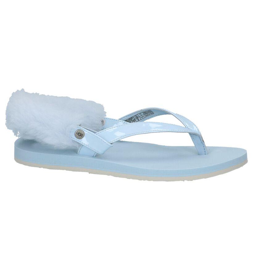 Lichtblauwe Sportieve Sandalen UGG Laalaa in kunststof (210287)