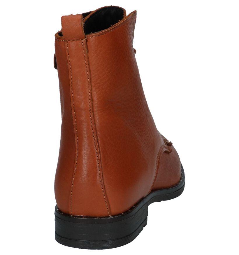 Bana & Co Boots Cognac in leer (230876)