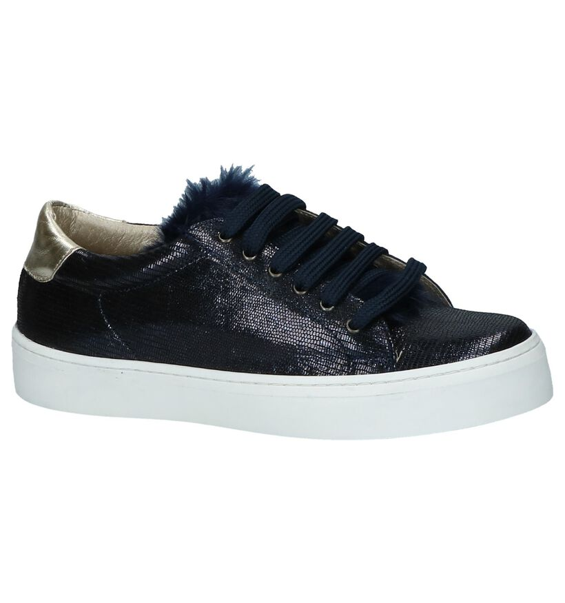 Donker Blauwe Sneakers Milo Mila by Torfs in nubuck (232666)