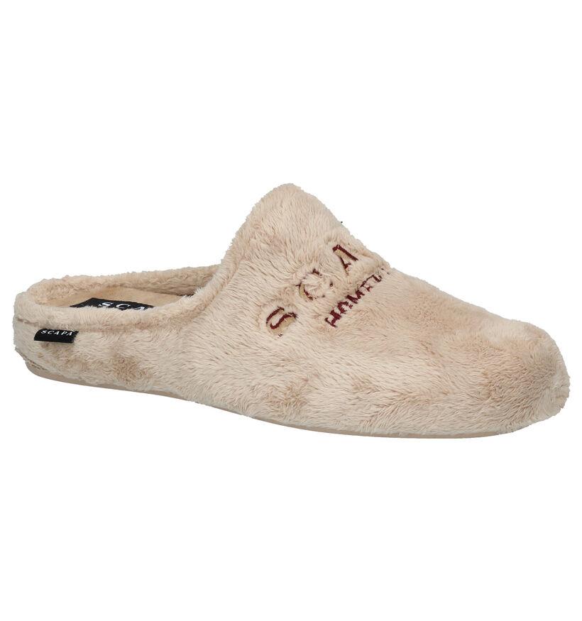 Scapa Grijze Pantoffels in stof (281266)