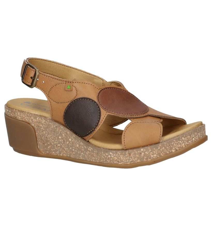 Cognac Sandalen El Naturalista Leaves in kunstleer (243883)