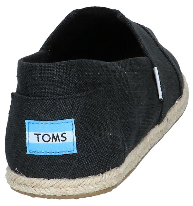 Zwarte Espadrilles Toms in stof (242103)