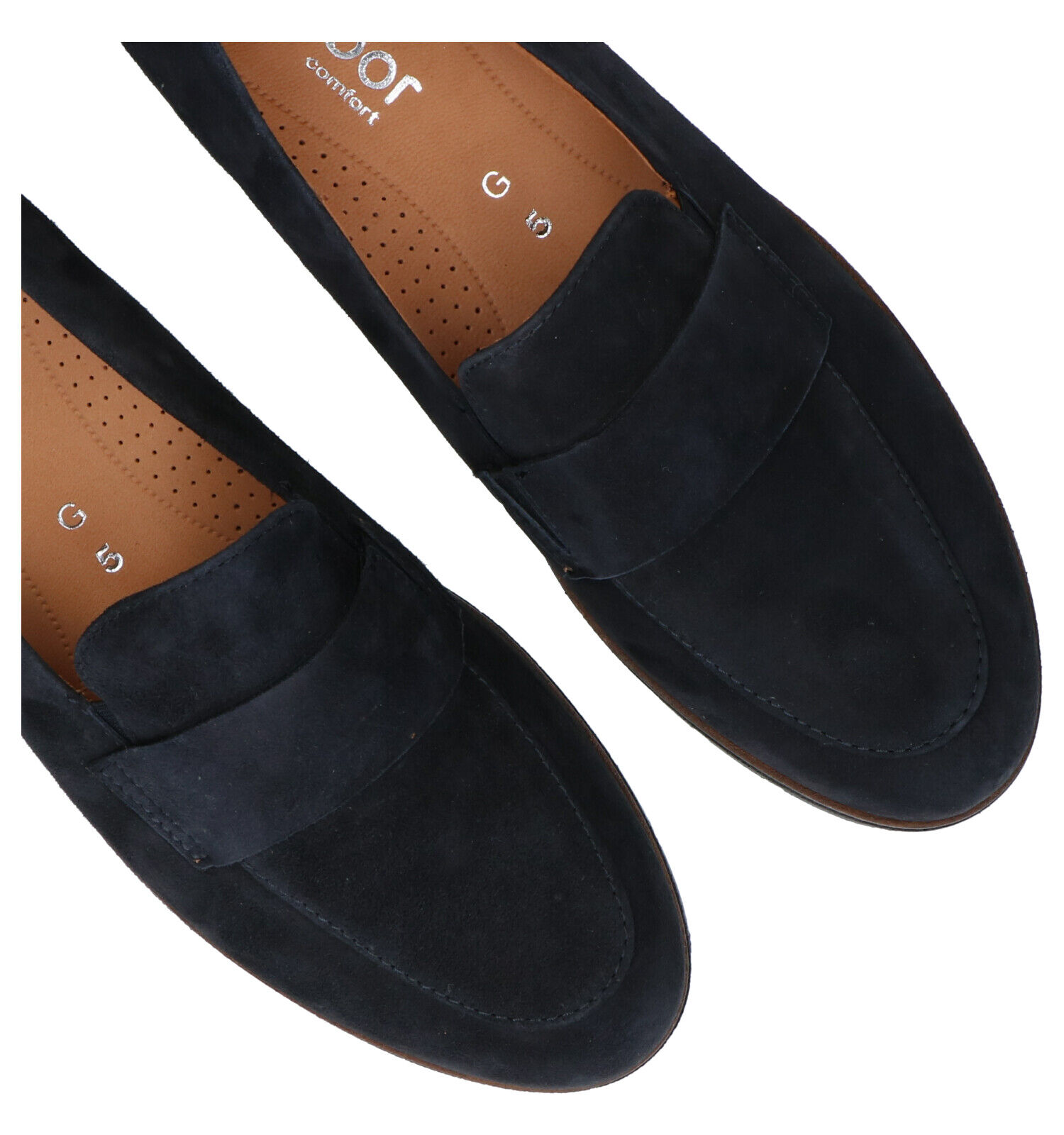 Gabor Easy Walking Blauwe Loafers