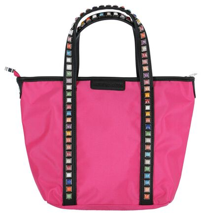 Zwarte Handtas met Studs Arthur & Aston, Roze, pdp