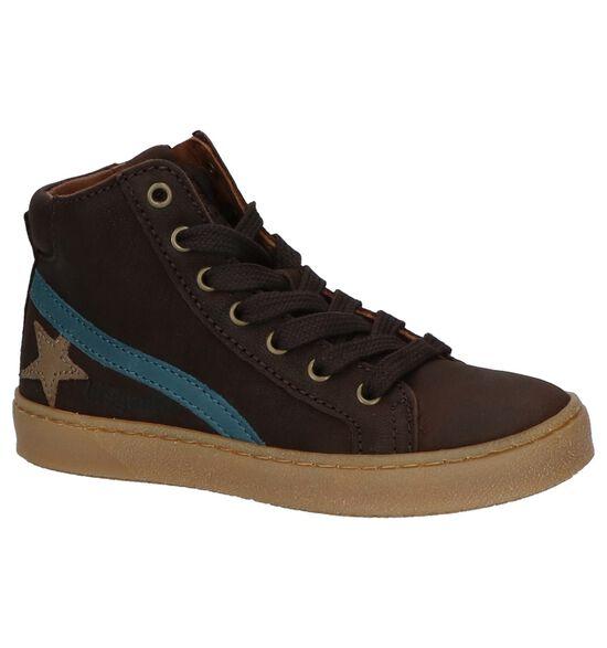 Donker Bruine Boots met Rits/Veter Bisgaard