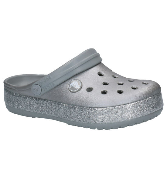 Crocs Crocband Glitter Zilveren Slippers