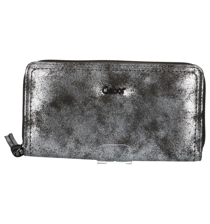 Zilveren Gabor Inka Ritsportefeuille in kunstleer (225971)