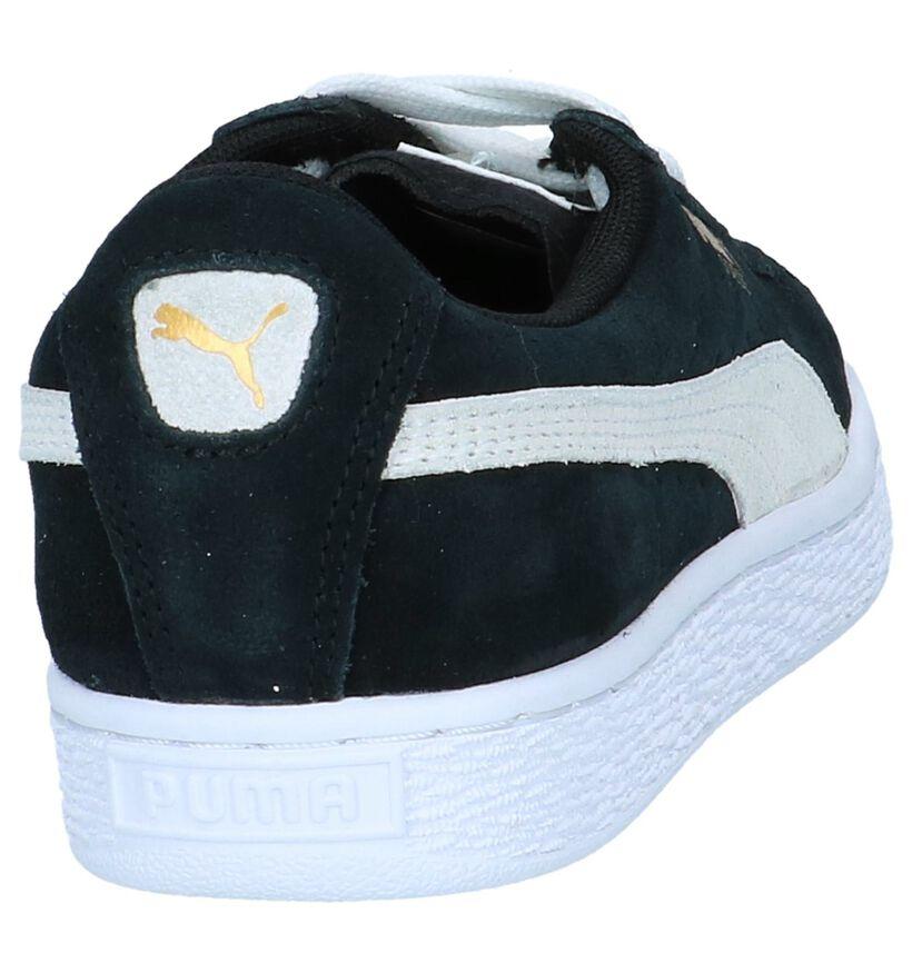 Zwarte Sneakers Puma Suede Classic in daim (239496)