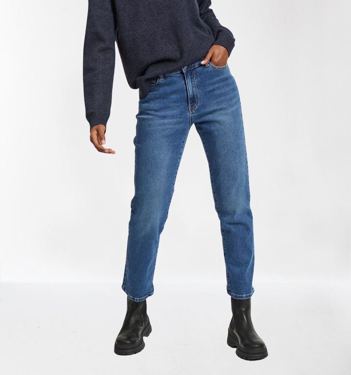 Vila Blauwe Jeans Cropped Straight Fit