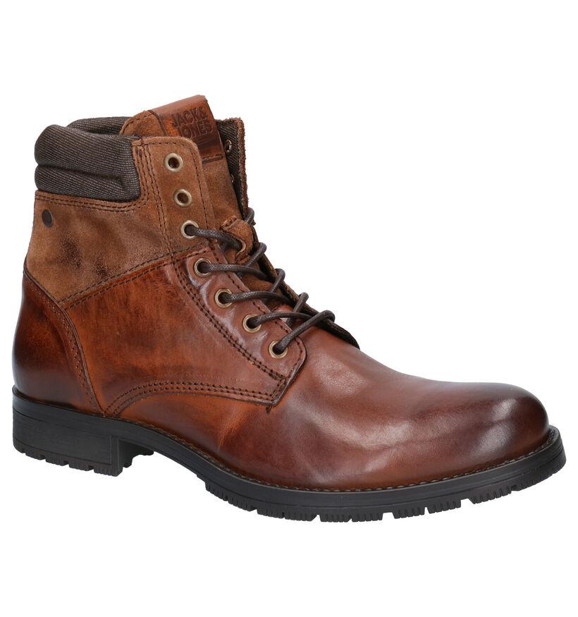 Jack & Jones Zachary Bruine Boots in leer (252836)