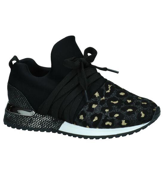 La Strada Zwarte Slip-on Sneakers