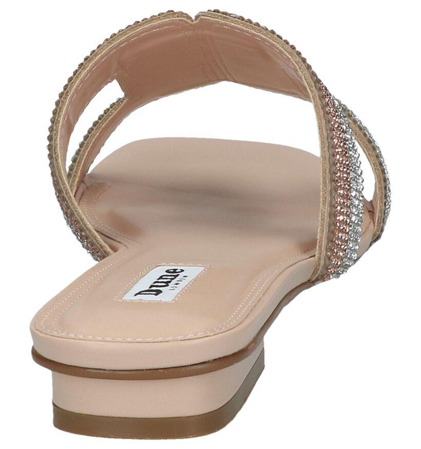 Gouden Slippers Dune Nadya in leer (240134)
